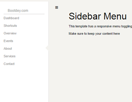 foundation framework snippet Sidebar left menu