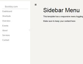 foundation framework snippet Sidebar left menu