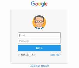 foundation framework snippet Login form like google