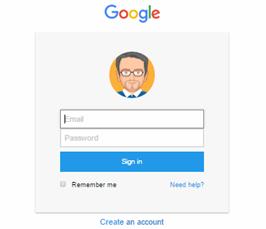 foundation framework snippet Login form like google