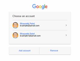 foundation framework snippet Google choose an account