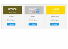 Foundation zurp Grey pricing tables example