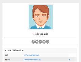 foundation framework snippet Profile info