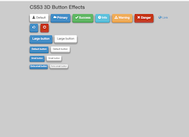 Bootstrap Full bootsra 3d Buttons example