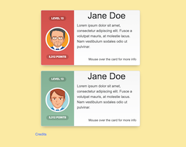 Bootstrap Css Player User Cards example
