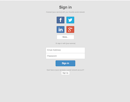 Bootstrap Social network login with buttons example