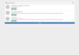 Bootstrap Recent Comments Admin Panel example