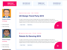 Bootstrap snippets. Event On Trend