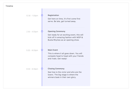 Bootstrap timeline events example