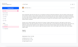 Bootstrap read email example