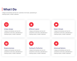 Bootstrap services section page example