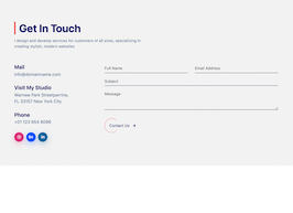 Bootstrap contact page section example