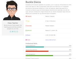 Bootstrap user profile details example