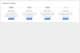 Bootstrap simple horizontal timeline example