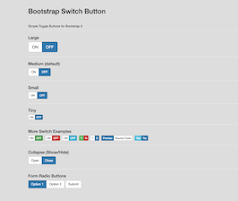 Bootstrap Bootstrap 3 Toggle Switch buttons example