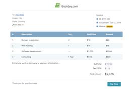 Bootstrap company invoice example