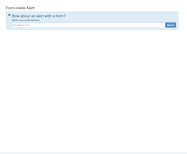 Bootstrap snippet Bootstrap Form inside alert info