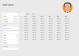 Bootstrap snippet Complete User Profile Page for Bootstrap