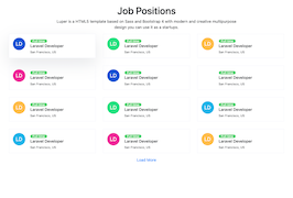 Bootstrap snippets. job positions