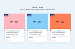 Bootstrap Latest News section example