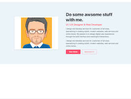 Bootstrap about me section example
