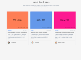 Bootstrap Latest Blog and News example