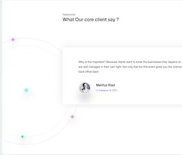 Bootstrap Animated Testimonial Slider example