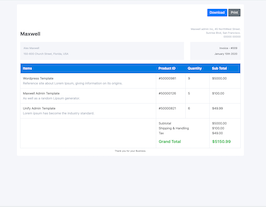 Bootstrap white invoice example