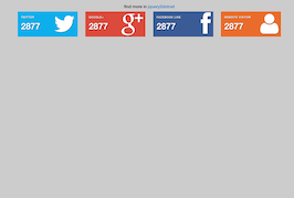 Bootstrap snippet Social Sharing Buttons with counter