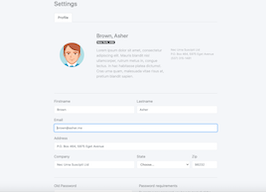 Bootstrap profile edit settings example
