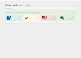 Bootstrap snippet Dashboard Statistics Overview