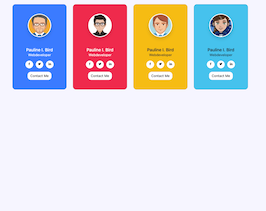Bootstrap color contact list example