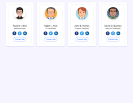 Bootstrap light contact list example