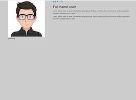 Bootstrap user presentation profile with description example