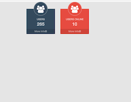 Bootstrap snippets. Dashboard user count colored circle image