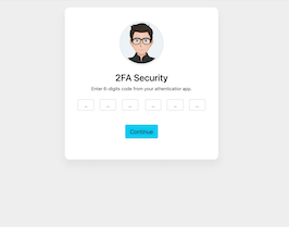 Bootstrap 2FA Security form example