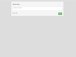 Bootstrap update your social status form example