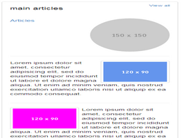 Bootstrap snippets. social main articles
