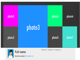 Bootstrap snippets. Instagram User Profile header