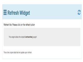 Bootstrap Refresh Widget example