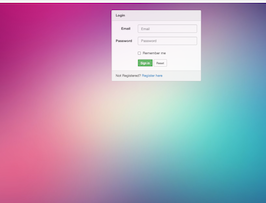 Bootstrap Login form with background image example