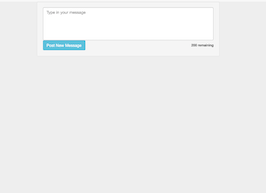 Bootstrap snippet Textarea with character count