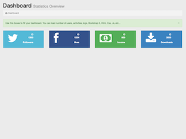 Bootstrap Simple admin dashboard home example