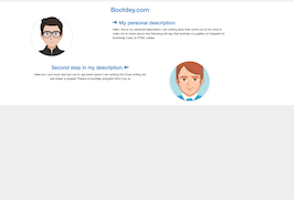 Bootstrap snippet zig zag user description