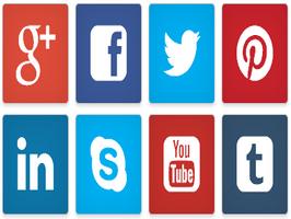 Bootstrap snippet Social Media Button Design