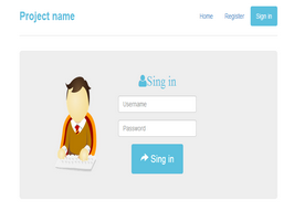 Bootstrap snippet Form sign in inside narrow jumbotron