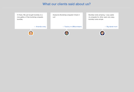 Bootstrap snippet Clients testimonial with small photo