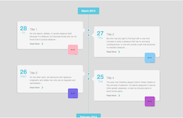 Bootstrap snippets. Timeline with small images