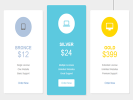Bootstrap snippets. Pricing table
