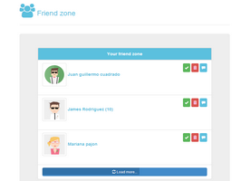 Bootstrap friend zone user list example